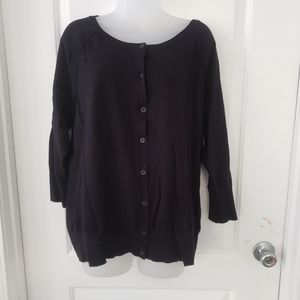 Lane Bryant Blk 3/4 length slv cardigan Sz 18/20